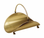 "Log Basket - Antique Brass Plated - 21"" L"