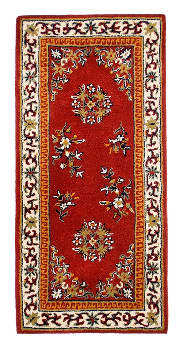 "Oriental 56"" x 26"" Rectangular - Burgundy"