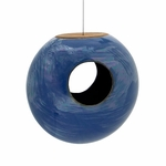 Torus Bird Feeder Blue