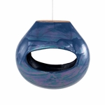 Calabash Bird Feeder Blue