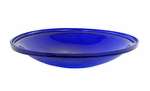 "14"" Crackle Bowl - Cobalt Blue"