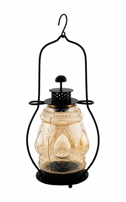 Large Pressed Lantern - Apricot Ice