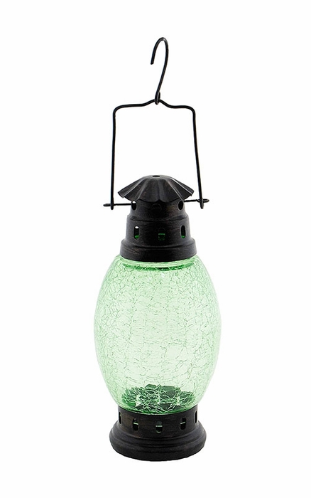 Crackle Lantern - Fern Green