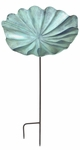 Lily Leaf Birdbath - Large with Stake