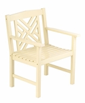 Fretwork Arm Chair - Antique Ivory