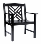 Fretwork Arm Chair - Black