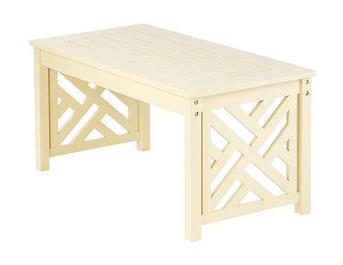 Fretwork Coffee Table - Antique Ivory