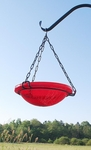 "12"" Hanging Crackle Bowl - Red"