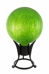 "10"" Gazing Globe - Crackle - Fern Green"