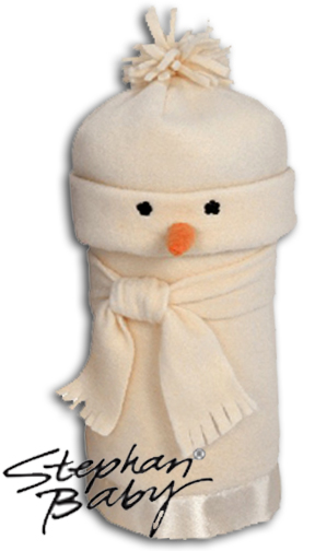 Cream Snowman - Hat & Blanket Set