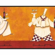 Fat Chef Wallpaper Border KG8890b