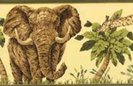 Jungle Animals Wallpaper Border HE3540b