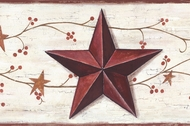 Barn Stars & Berries Wallpaper Border