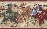 Beige Live, Laugh, Love Wallpaper Border RF3521bd
