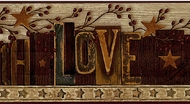 Printers Block Faith, Hope, Love Wallpaper Border