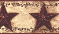 Barn Star Berry Wallpaper Border