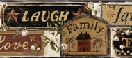 Faith, Family, Friends Signs Wallpaper Border