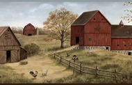 Barns on the Farm Wallpaper Border