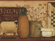 Primitive Crocks Stars Sheep Wallpaper Border