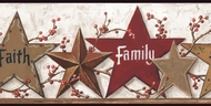 Faith Family Friends Stars Wallpaper Border