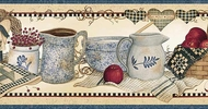 Crocks, Baskets and Apples Wallpaper Border FF28012b