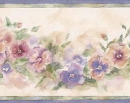 Pastel Pansies Wallpaper Border