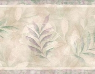 Botanical Leaf Shadows Wallpaper Border