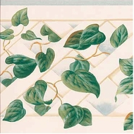 Ivy Lattice Wallpaper Border