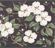 Dogwood Flower Wallpaper Border
