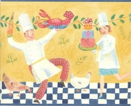 Dancing Chefs Wallpaper Border