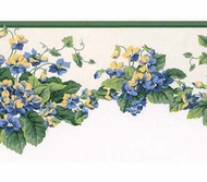 Waverly Sweet Violets Wallpaper Border