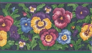 Pansies Wallpaper Border CTC233b