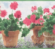 Geraniums Wallpaper Border JB950b