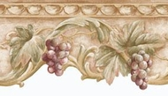 Die Cut Scrolled Grapes Architectural Wallpaper Border NRB5038