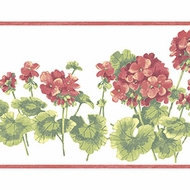 Geraniums Wallpaper Border