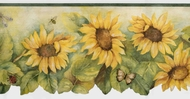 Scalloped Sunflower Wallpaper Border