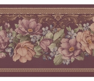 Satin Floral Wallpaper Border