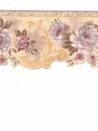 Scalloped Edge Floral Wallpaper Border