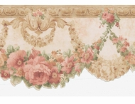 Cameo Rose Swag Satin Wallpaper Border
