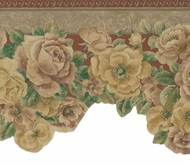 Diecut Satin Floral Wallpaper Border