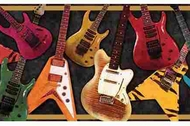 Electric Guitars Wallpaper Border