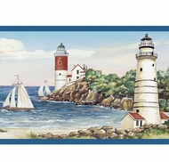 Lighthouse Sailboat Wallpaper Border BG1663bd