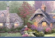 Thomas Kinkade Wallpaper Border