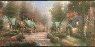 Thomas Kinkade (black trim) Wallpaper Border