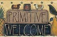 Primitive Welcome Wallpaper Border