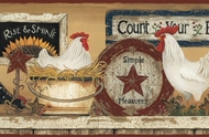 Hen And Rooster Wallpaper Border CB5539bd