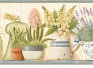 Gardener's Kitchen Wallpaper Border AAI08011b