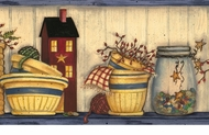 Country Cupboard Wallpaper Border AAI08031b