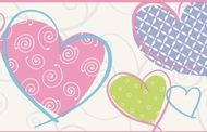 Love U Lots Heart Wallpaper Border JE3565b