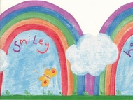 Happy & Smiley Rainbow Diecut Wallpaper Border